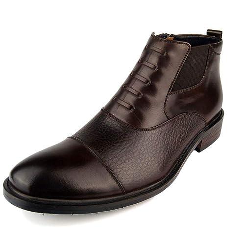 Zapatos De Vestir De Negocios Oxford con Punta Estrecha para Hombre Botas CóModas De Chelsea Martin Botines De Cuero Hechos A Mano: Amazon.es: Zapatos y ...