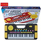 CYNDIE 31 Keys Kids Baby Musical Toys Children Musical Portable Instrument Electronic Piano Keyboard Educational Toys Black