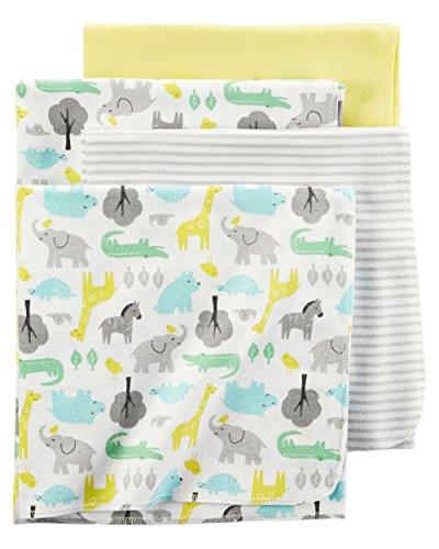 Carters Flannel Receiving Blankets Animals
