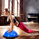 MD Group 23'' Exercise Yoga Ball Balance Trainer with Pump, Blue