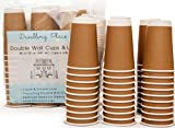 Premium 16 oz Disposable Coffee Cups with Lids (50 Ct) - Use your Coffee Maker then Pour into this Paper Travel Cup, Skip Starbucks & Brew your Own Beans, Steep your Own Tea, Mix Hot Cocoa!