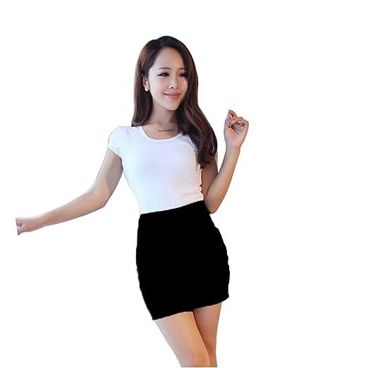 e76f5d99c5b3 CA Mode Women's OL High Waist Bodycon Micro Mini Pencil Skirt at ...