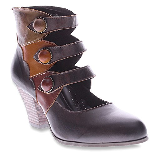 L'Artiste by Spring Step Women's Autumn Bootie,Brown Multi Leather,EU 40 M (Brown Multi Leather Pumps)