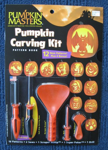 Pumpkin Carving Kit For Kids and Adults ,39 PCS Easy Halloween Stainless Steel Pumpkin Carving Tools Set For Kid, 2 LED Candles,10 Carving Stencils,20 Jack O Lanterns Fang Teeth