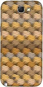 Snoogg Textura Sin Fin En Protectora Volver Funda Warmcolors Diseñador Para S...