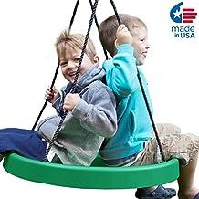 Super Spinner Children's Swing, Green