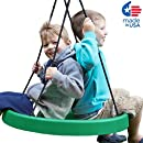 "Super Spinner Swing, FUN 27"" Safe Solid Seat. Swing Set or Tree. Holds 200 lbs. Includes a 10 ft. Tree Swing Hanging Kit, Fully Assembled."