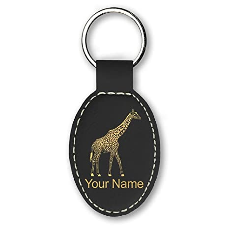 Amazon.com: Llavero diseño de jirafa – grabado personalizado ...