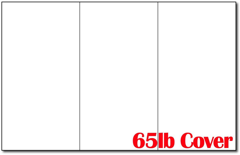 65lb White 11'' x 17'' Large Tri-fold Brochure Paper - 250 Trifold Brochures