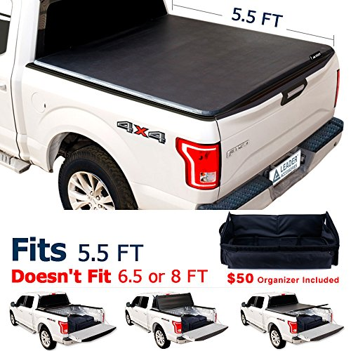 5.5ft Tri-fold Tonneau Cover for 2004-2014 Ford F-150 Truck Supercrew Cab 5.5' Short Bed - Leader Accessories
