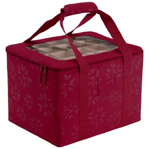 Classic Accessories Seasons Christmas Tree Ornament Organizer & Storage Bin ()