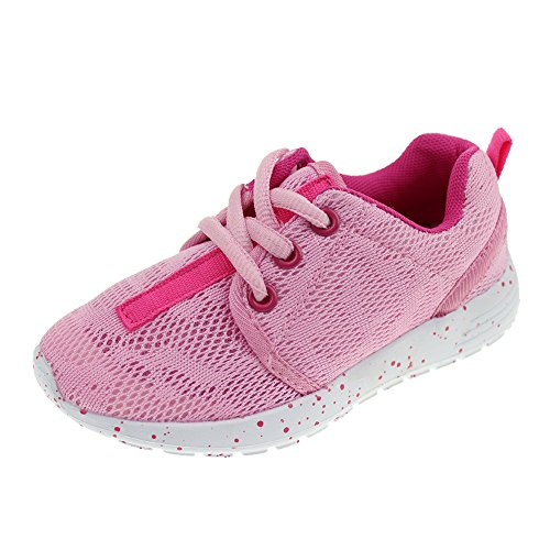 Hawkwell Sports Running Shoes(Toddler/Little Kid/Big Kid),Pink Mesh,13 M US (Basketball Shoes Size 13 Kids)