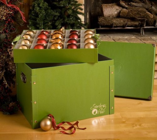 Signature Ornament Storage Box - Satin Lined & Padded