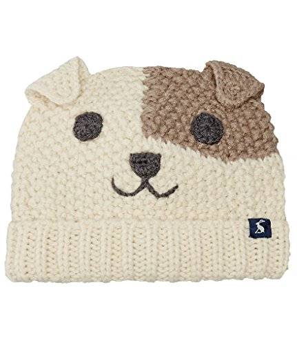 Joules Boys 3D Ear Dog Character Beanie Hat and (Knit Dog Ear Hat)