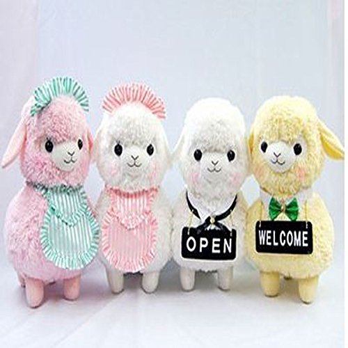 Amazon.com: 45CM Adora Doll Coffe Shop Waiter Japan Alpaca Plush Doll Boneca Peluches Alpacasso Yellow White Pink Color Sheep Stuffed Toy: Baby