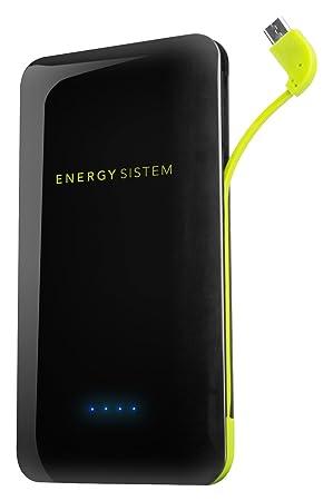 Energy Sistem - Batería externa portátil (5000mAh, para tabletas y Smartphone), color negro