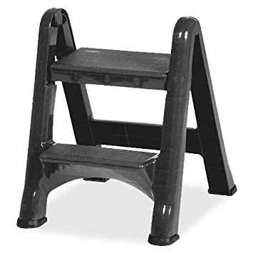 Terrific Rcpfg420903Cyld Rubbermaid Ez Foldable Two Step Stool Squirreltailoven Fun Painted Chair Ideas Images Squirreltailovenorg