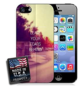 Leave Your Fears Behind Quote Hipster iPhone 4/4s Hard Case
