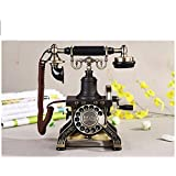 XIE European-style fixed telephone antique/vintage home rotary phone landline (1892) , section of the rotary dial