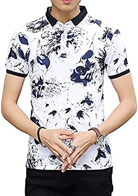 Gladiolus Hombre Casual Patrón De Flores Polo Shirt Camiseta con ...
