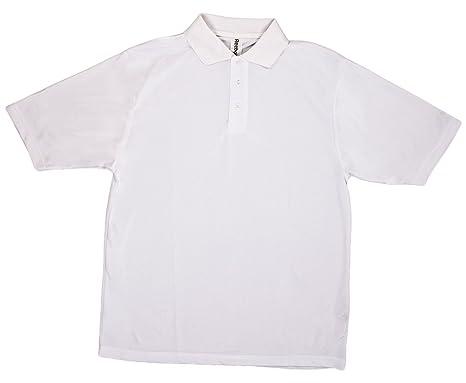 Reebok de Hombre 3 dyed-to-Match Botones Polo para Hombre, Blanco ...