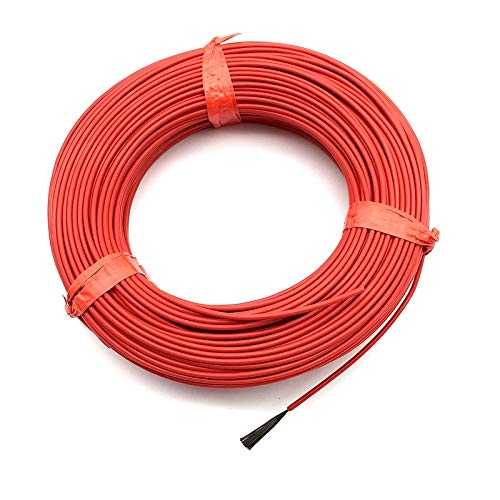 Fiber Systems - ZAMTAC 20M 12K 33Ohm Infrared Heating Floor Heating Cable System 2.0mm PTFE Carbon Fiber Wire Electric Floor Hotline Thickening FF46 - (Size: 20m)