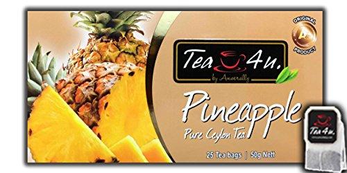 Pineapple Tea | Flavoured Black Tea - 25 Tea Bags | Fruity Tea | Ceylon Tea | Natural & Pure & Unique Quality , From Sri Lanka | Tea4U
