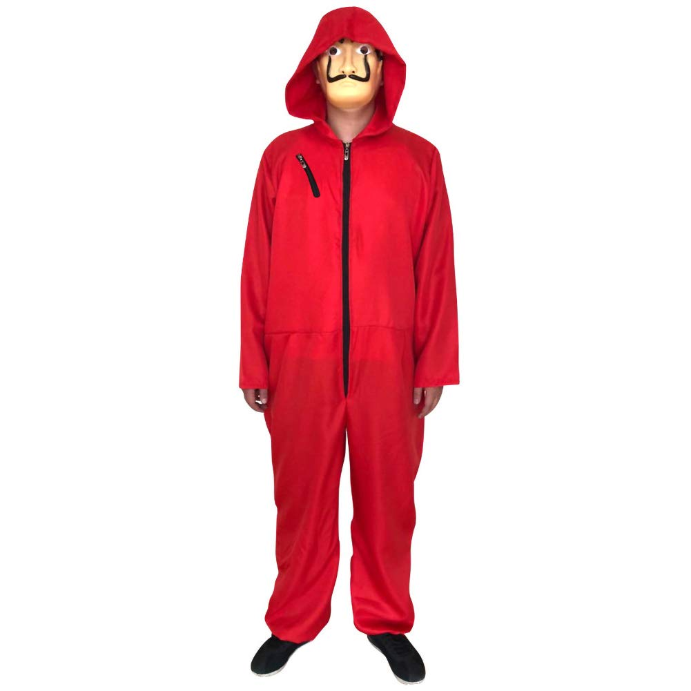 Dali Movie Costume Cosplay Costumes with Mask (M) Red