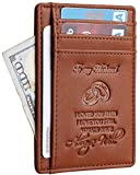 NapaWalli Wife To Husband Father Mother to Son Gift Best Anniversary Christmas Birthday Gifts Slim Wallet (Wife to Husband Renapa Brown)