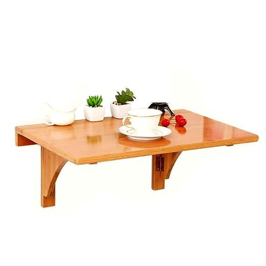 ACZZ Mesa plegable de pared, mesa de comedor de madera, mesa de ...