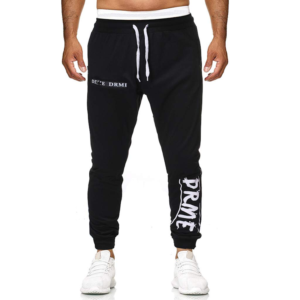 Men's Elastic-Waist Drawstring Pants Trouser Outdoor Hiking Sweatpants for Sport Exercise Travel,Quick-Dry,Stretch with Pockets S-2XL by VEZARON (Image #2)