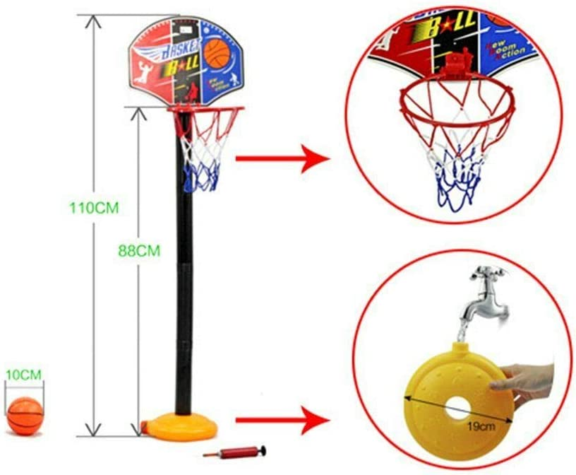 For Kid Child Basketball Stand Backboard Hoop Net Set Portable Outdoor Game Toys