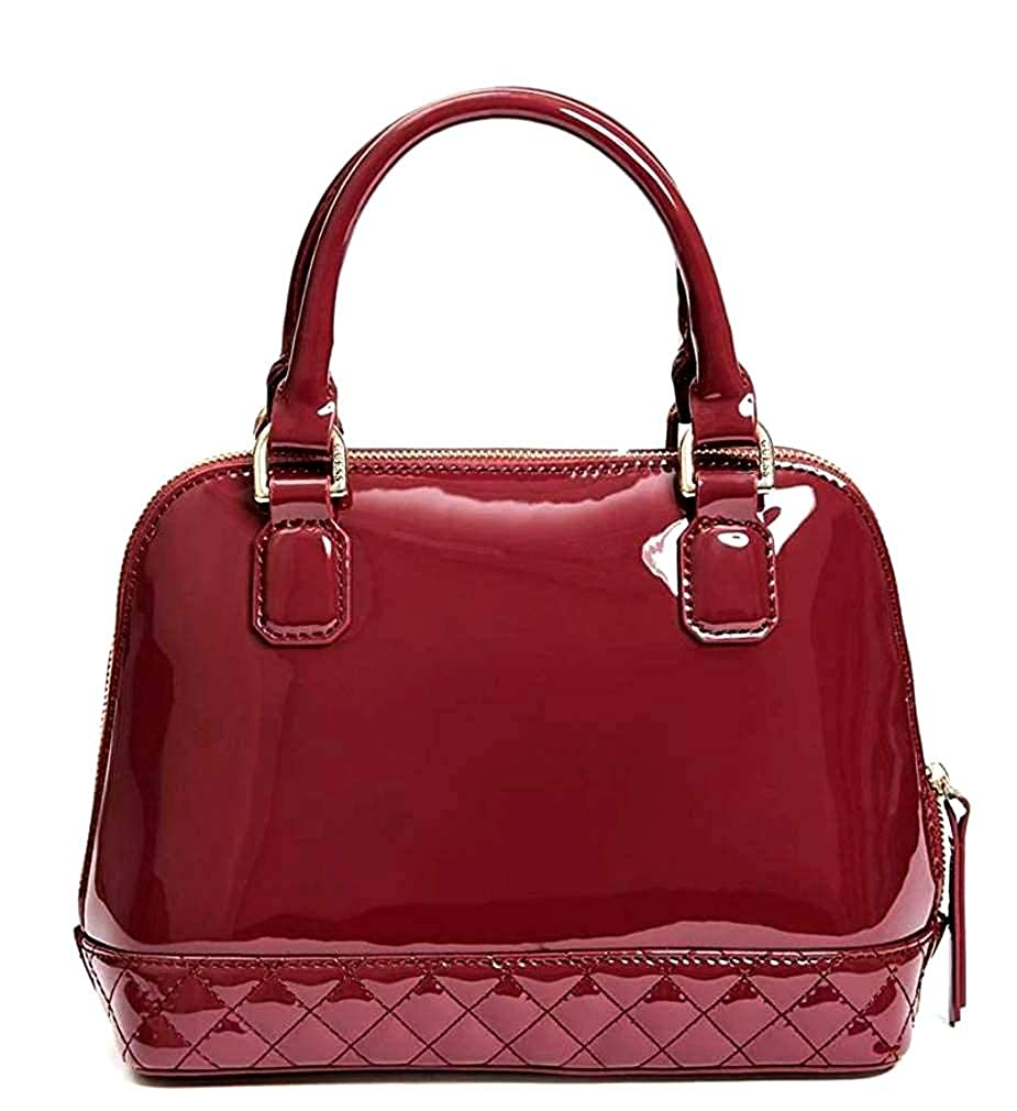 Guess amy shine patent small dome satchel bag purse handbag wine shoes jpg  925x1010 Logo red 37f5e2ce7efcc