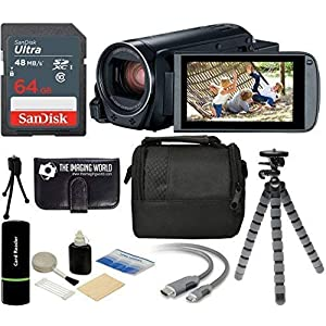 51ZnRqmDQ4L. SS300  - The Imaging World R800 Canon VIXIA HF R800 57x Zoom Full HD 1080p Video Camcorder (Black) + 64GB Card + Case + Tripod…