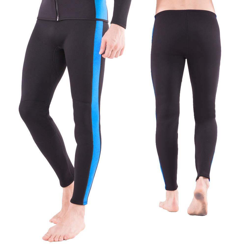 Flexel Wetsuit Pants, 2mm Premium Neoprene Surfing Pant Scuba Diving Trousers Swimming Snorkeling Canoeing Fishing XSPAN Leggings for Men and Women(2mm Pants Ocean, Large) by Flexel