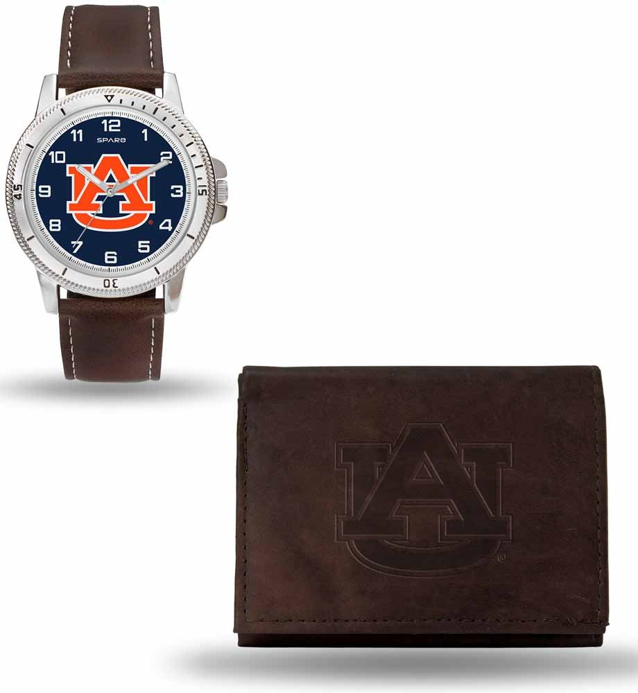 Rico Industries NCAA Men's Watch and Wallet Set Brown