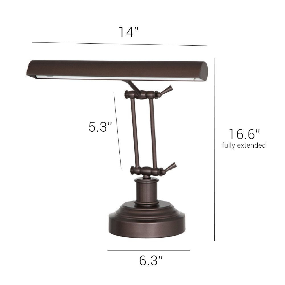 Oil Rubbed Bronze DLED14RB Cocoweb 14 3-level Dimmable 2-point Adjustable LED Piano Desk Lamp