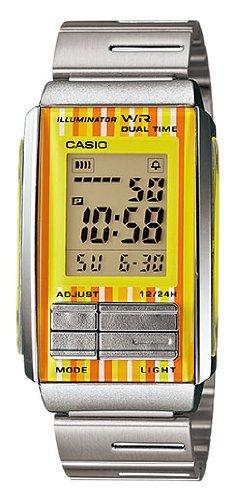 Casio #LA201W-9C Women's Futurist Metal Band Alarm Chronograph Digital Watch