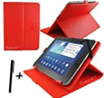 Red PU Leather Case Cover Stand for F...