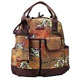 Nicole Lee Diaper Bag Backpack, Multiple Compartments Brown Changing Mat, Bottle Holder Travel Backpack
