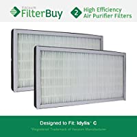 2 - Idylis Air Purifier Filters C. Idylis IAF-H-100C. Designed by FilterBuy to fit Idylis IAP-10-200 & IAP-10-280.