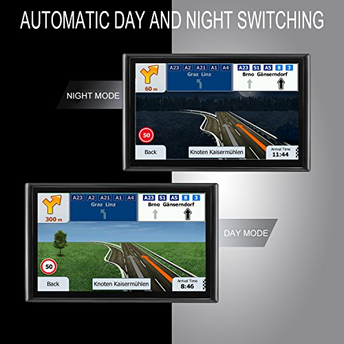 "7"" GPS Navigation LONGRUF Built-in 8G Memory, Lifetime Map Free Update"