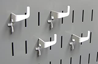 product image for Wall Control Pegboard Medium 90 Degree Slotted Hook Pack - Slotted Metal Pegboard Hooks for Wall Control Pegboard and Slotted Tool Board – White