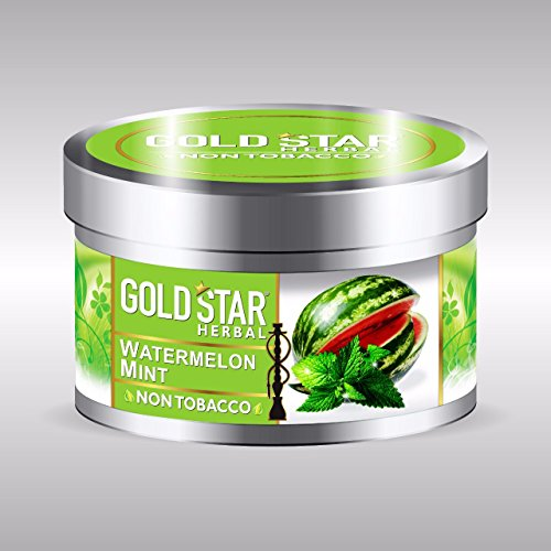 GOLDSTAR Herbal NON Tobacco Smoke WATERMELON MINT Flavor Premium Hookah 200 gm