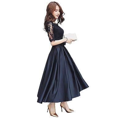 975fc3bb93159 パーティードレス ドレス ミモレ丈 膝丈 ドレス ロングドレス 黒 Aライン スレンダーライン ファスナー