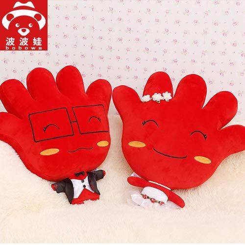 57 Cm rot DONGER Popova Hochzeitsgeschenk Hochzeitspresse Großes Paar Plüschtier Puppe Paar Puppenkissen Kissen, Rot (Liebesleben), 57 cm