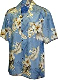 Pacific Legend Plumeria Hibiscus-Hawaiian Shirts-AMAZON3162BLUE2XL