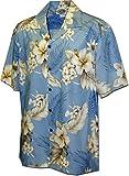 Pacific Legend Plumeria Hibiscus-Hawaiian Shirts-AMAZON3162BLUEXL