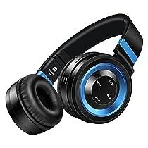 picun P6Wireless Bluetooth 4.0Stereo Kopfhörer–New Generation, Noise Cancelling On-Ear-HiFi Headset für Smartphones (iPhone/Samsung)/Laptops/iPod/iPad und die meisten Bluetooth-fähigen Geräte mit Micro, InLine-Lautstärkeregler, TF Card Support und FM Radio Funktion