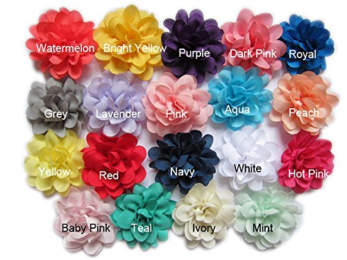 YYCRAFT Pack Of 38 Satin Silk Flower 2